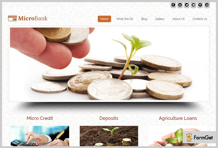 MicroBank Finance WordPress