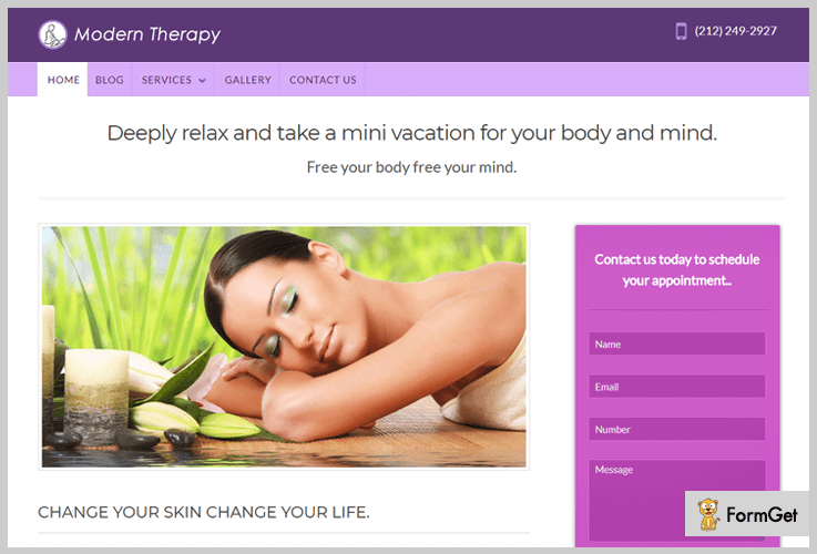 Modern Therapy Spa WordPress Themes