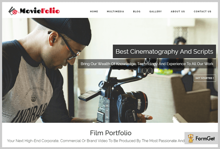 Movie Folio Filmmaker WordPress Theme