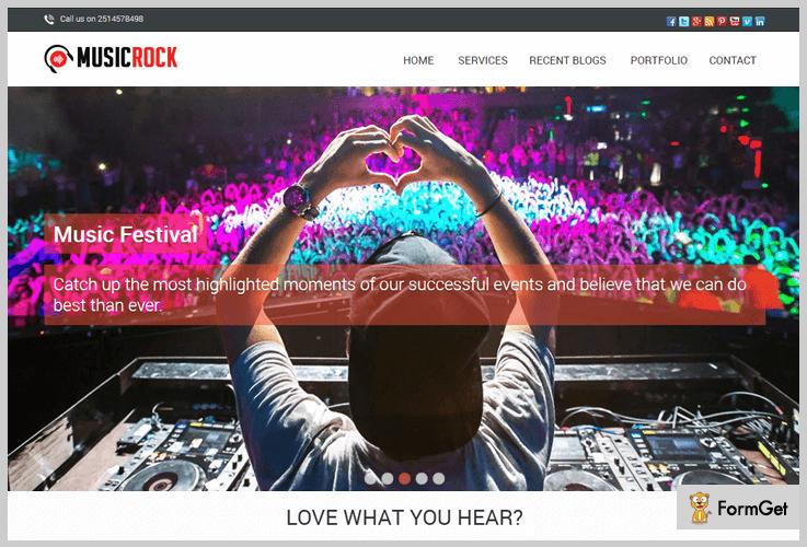 MusicRock Band WordPress Theme