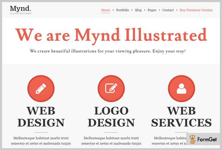 Mynd Portfolio WordPress Themes