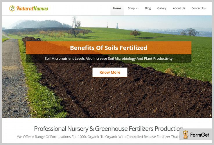 Natural Humus Organic Food WordPress Theme