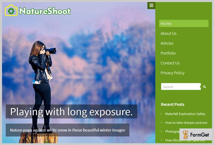 NatureShoot Nature WordPress Theme