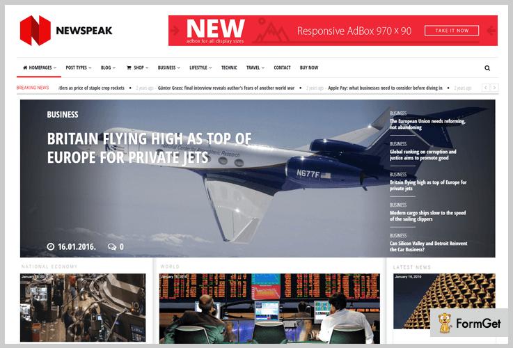 Newspeak Three Column WordPress Theme