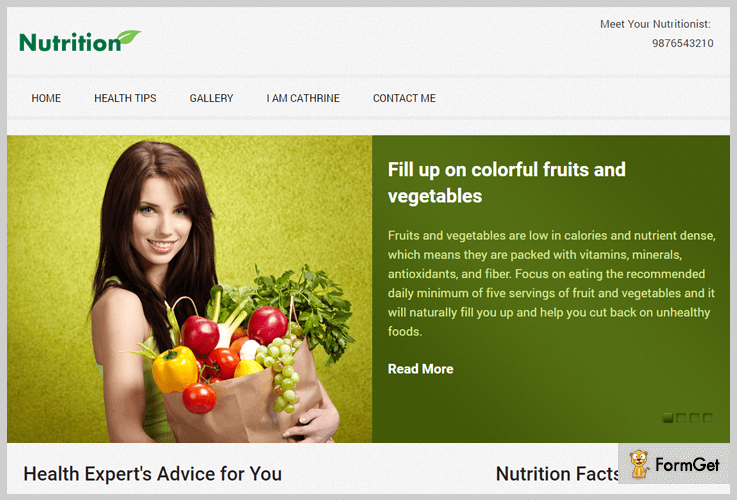 Nutrition Fitness WordPress Theme