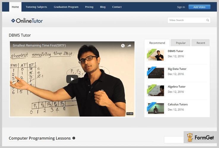 OnlineTutor Tutorial WordPress Theme