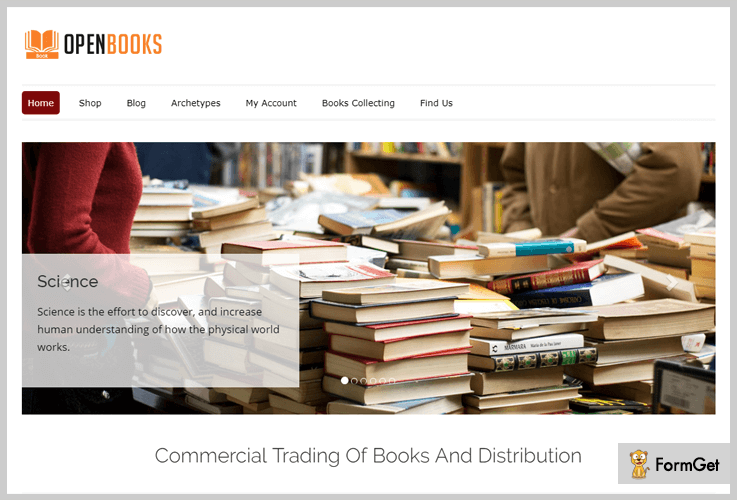 Openbooks Book Store WordPress Theme