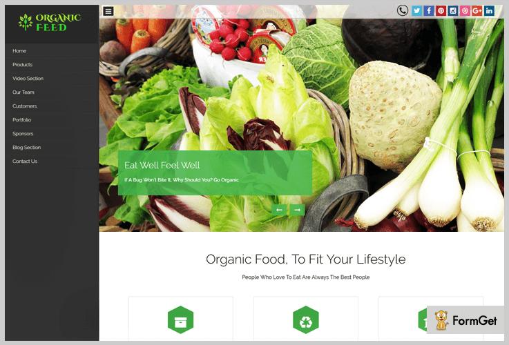 OrganicFeed Organic Food WordPress Theme