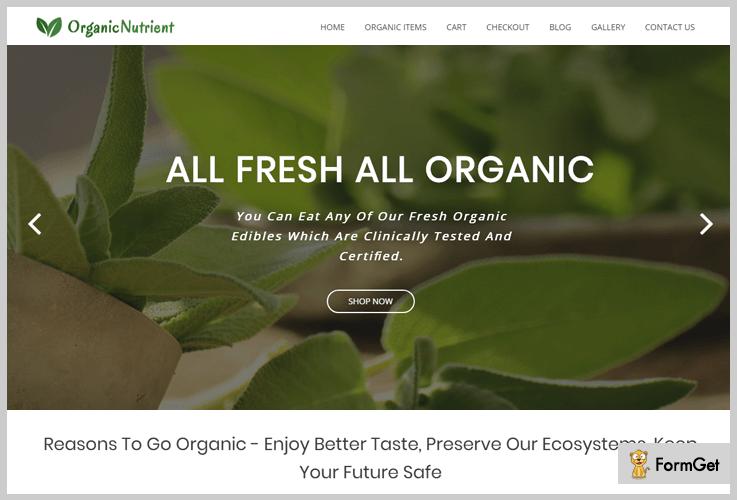 Organic Nutrient Nature WordPress Theme