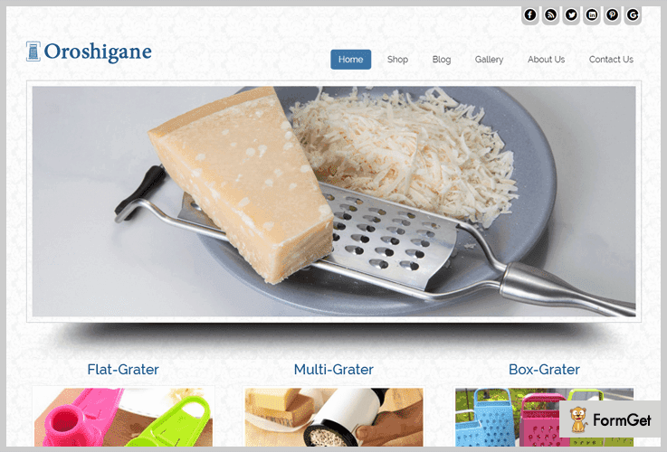 Oroshigane Kitchen WordPress Theme