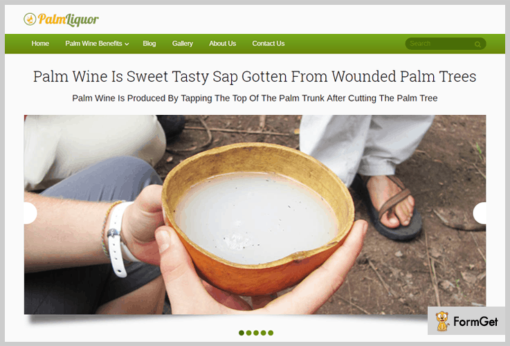 Palm Liquor Brewery WordPress Theme