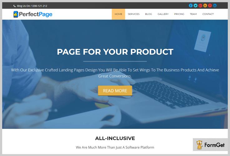 PerfectPage Freelancer WordPress Theme
