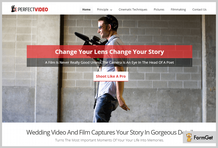 PerfectVideo Videographer WordPress Theme