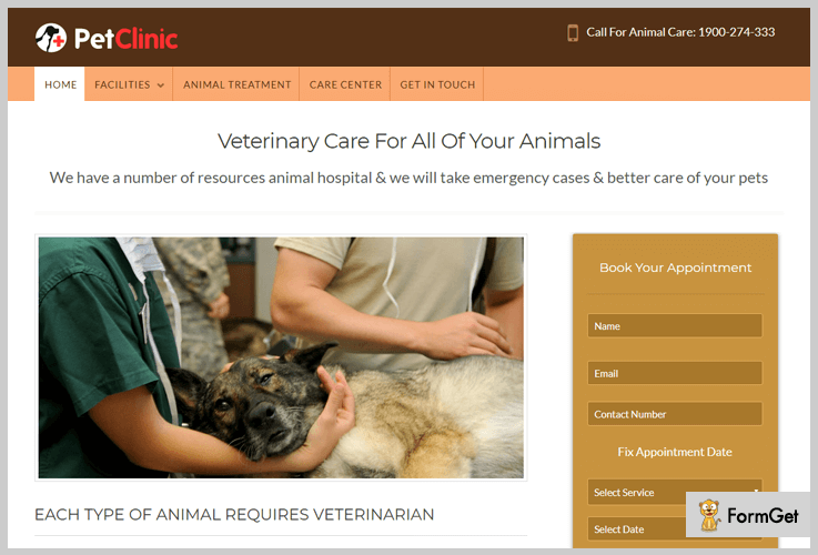 pet-clinic animalcare wordpress theme