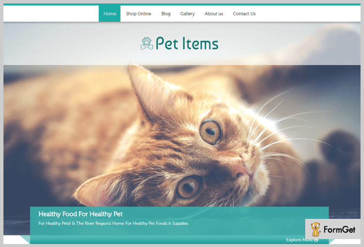 Pet Items Pet Store WordPress Theme