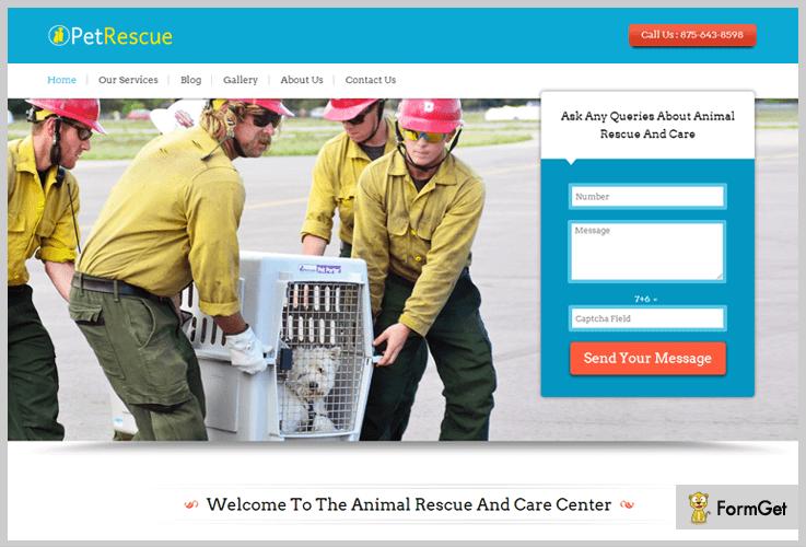 pet-rescue animalcare wordpress theme