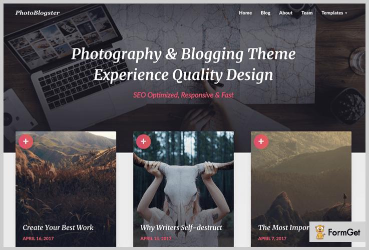 Photoblogster WordPress Photoblog Theme