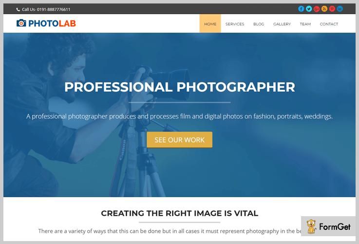 PhotoLab Photography WordPress Theme