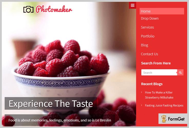 PhotoMaker Photography WordPress Theme