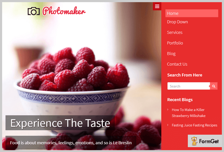 PhotoMaker WordPress Themes With Side Menu