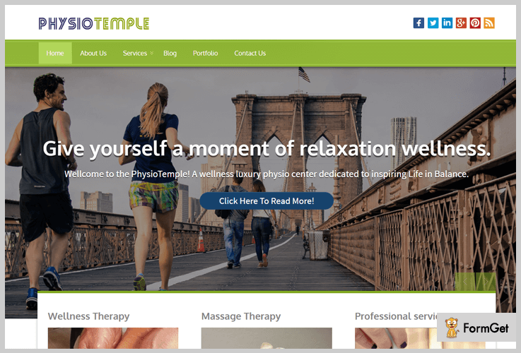 Physio Temple Physiotherapy WordPress Theme