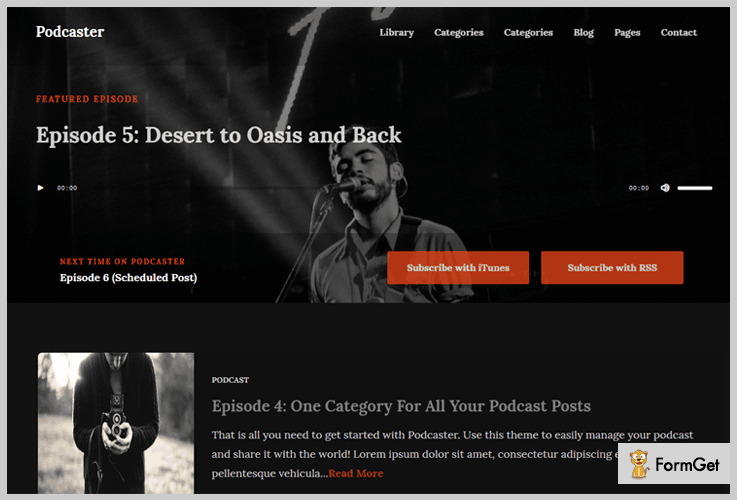 Podcaster Podcast WordPress Theme