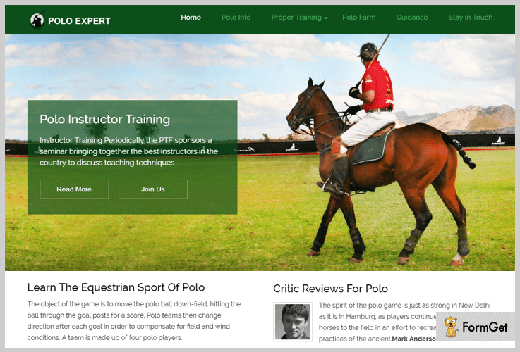 PoloExpert Sports WorPress Theme