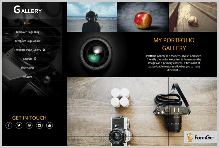 Portfolio Image WordPress Theme