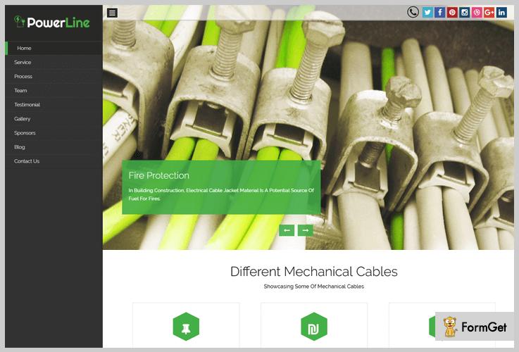 Power Line Industrial WordPress Theme