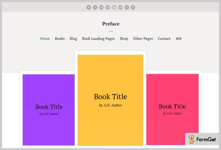 Preface Author WordPress Theme