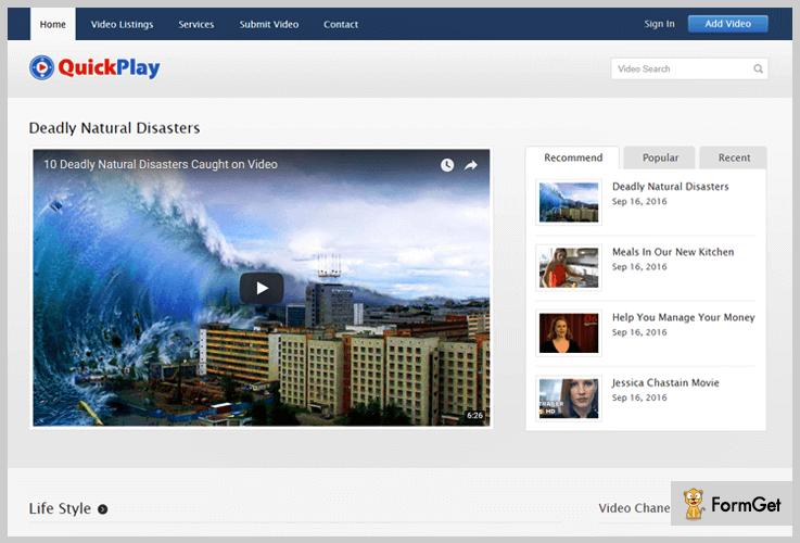 Quick Play Tutorial WordPress Theme