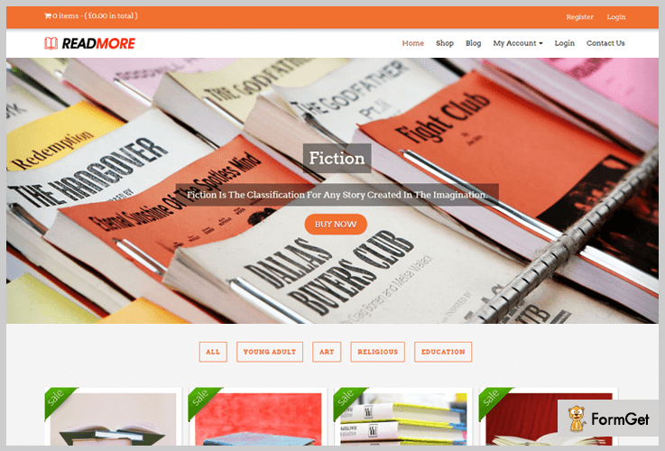 ReadMore BookStore WordPress Theme