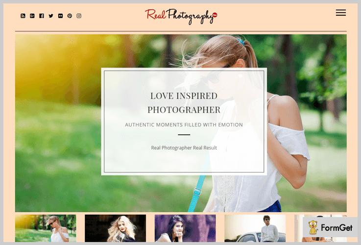Real Photography Image WordPress Theme