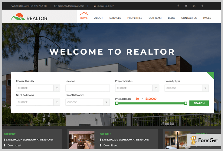 Realtor Realtor WordPress Theme