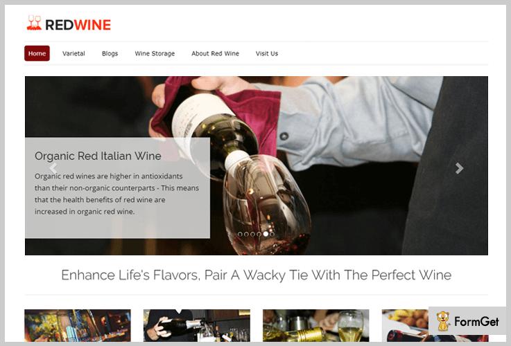 RedWine Wine WordPress Themes