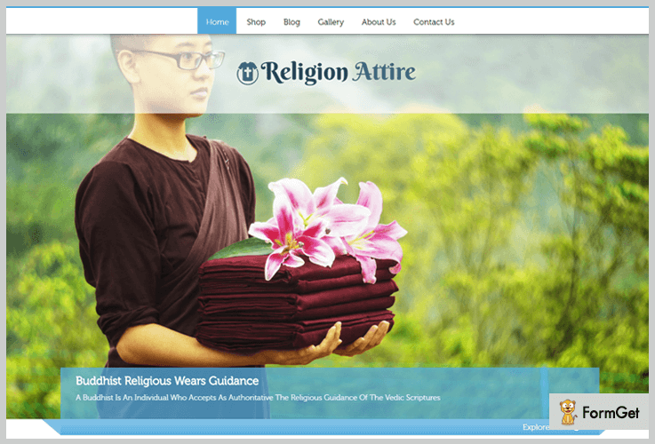 Religion Attire Store WordPress Theme