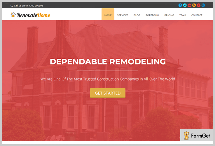 RenovateHome: Woodwork WordPress Theme