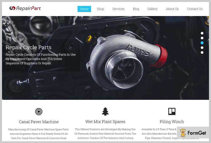 Repair Part Machinery WordPress Theme