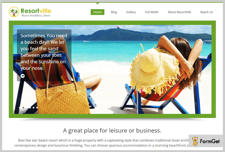 ResortVille Bed And Breakfast WordPress Themes