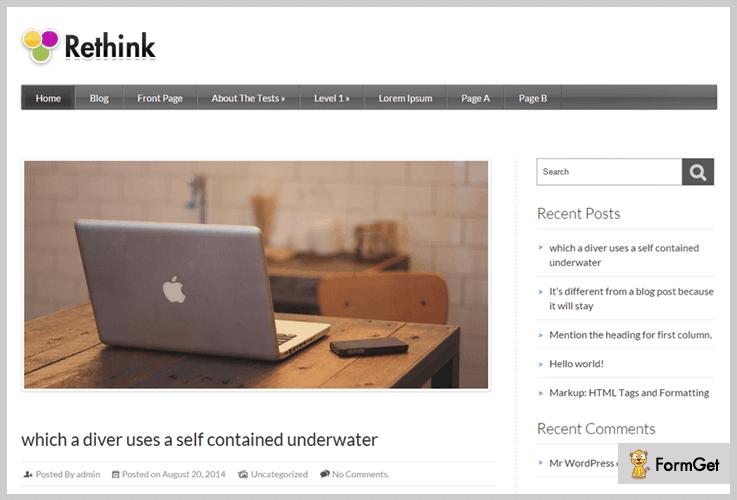Rethink Gym WordPress Themes