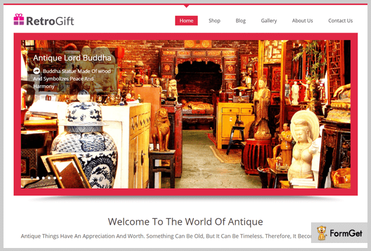 RetroGift Vintage WordPress Theme