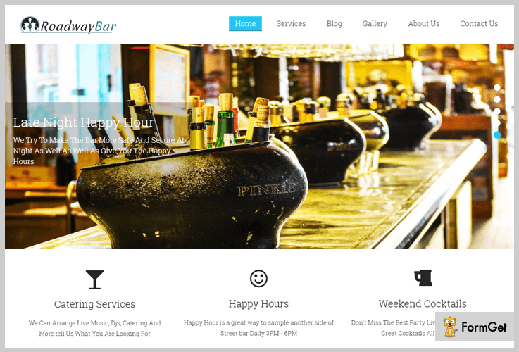 Roadway Bar Brewery WordPress Theme