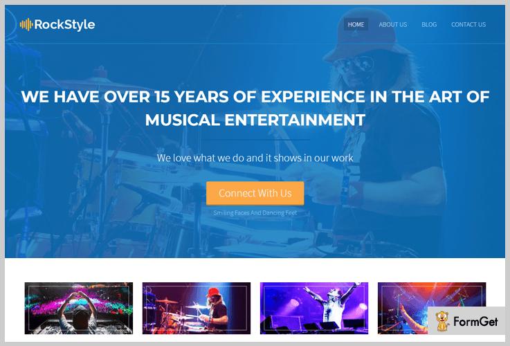 RockStyle Band WordPress Theme