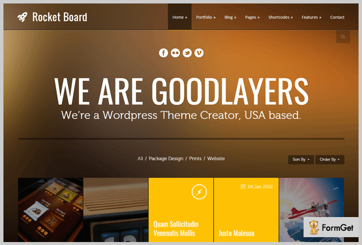 Rocket Board Metro WordPress Themes