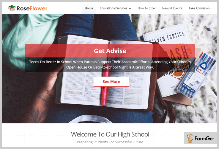 RoseFlower University WordPress Themes
