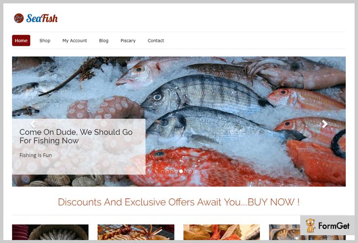 SeaFish Fishing WordPress Theme