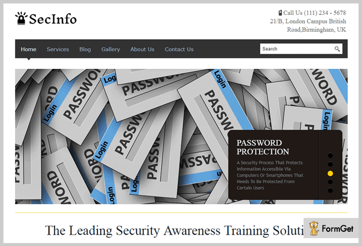 secinfo security wordpress themes