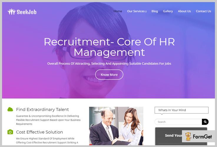 SeekJob Human Resource WordPress Themes