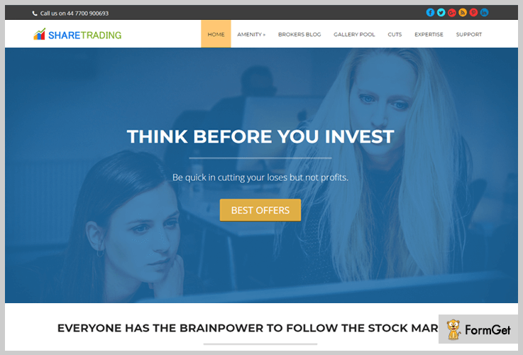 ShareTrading WordPress Themes Stock Market