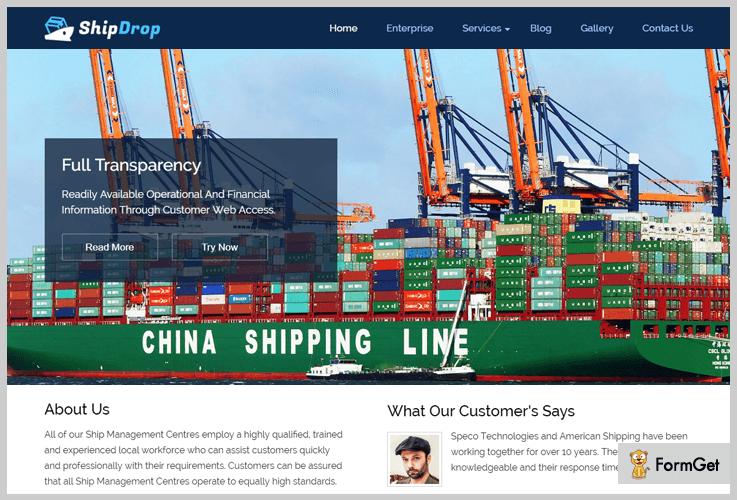 ShipDrop WordPress Theme
